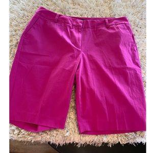 NWT Talbots Magenta Bermuda Shorts